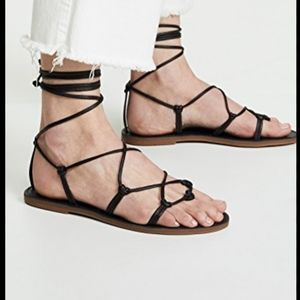 Madewell The Boardwalk Lace Up Sandals Size 8.5